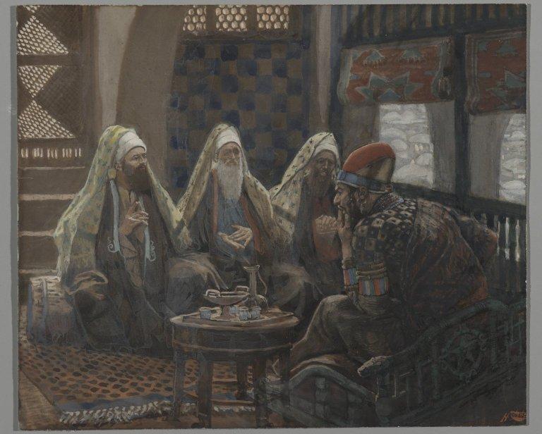 Джеймс Тиссо. Волхвы в доме Ирода, 1880-е.
